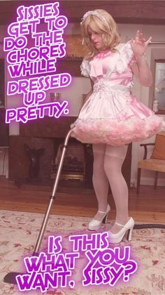 """jenni-sissy: """" MORE pretty captions for sissies! http://jenni-sissy.tumblr.com/archive """" Love the thought and the dress! Yes it is what I want!"""