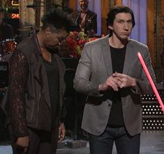 Leslie Jones checking out Adam Driver's ass is the best thing you'll see all year!