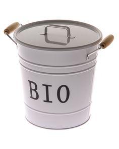 Biojäte-astia valkoinen kompostointi