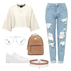 """""""My First Polyvore Outfit"""" by zzeino ❤ liked on Polyvore featuring Topshop, Ray-Ban, NIKE and Miss Selfridge"""