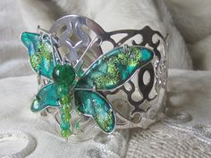 Friendly Plastic Butterfly Cuff. Urban Daisy Design