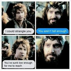 Here, Thorin, some aloe for that burn<<<THORIN DONT GET ANYTHING FOR THIS BURN!