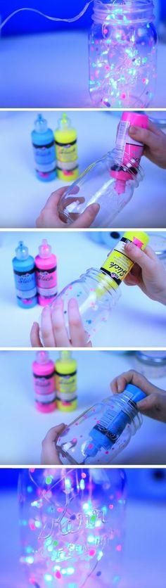 Fairy Glow Jar | 18 DIY Summer Tumblr Room Decor Ideas that are insanely cute!