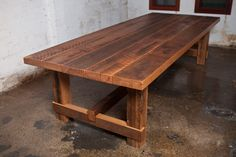 Recycled timber dining table Nottingham | Coopers Store
