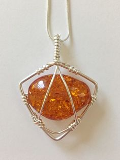 Caged Faux Amber Pendant Free Tutorial