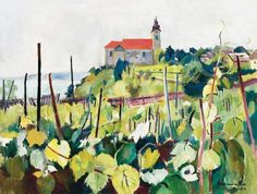Bornemisza Géza - View of Tihany, 1924 Watercolor Bird, Watercolor Paintings, Chapelle, Budapest, Gifts, Landscape, Kunst, Presents, Water Colors