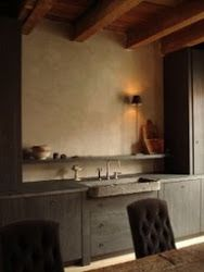 Love this kitchen.  The use of material is beautiful