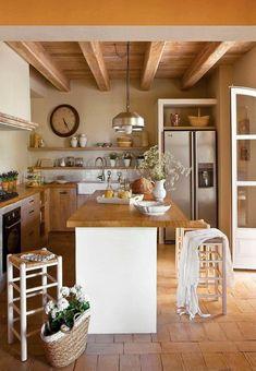 97 Excellent Modern Kitchen Design Ideas To Inspire Your Kitchen Remodelling. Home Decor Kitchen, Rustic Kitchen, Kitchen Interior, Home Interior Design, Home Kitchens, Kitchen Ideas, Traditional Kitchen Furniture, Cuisines Design, Küchen Design