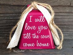 Love & Cows. Cowbell. Rustic Decor Anniversary by HorseShoeFever Western Decor, Etsy, Country Decor, Rustic Modern, Farm, Farmhouse, Ranch, Horseshoes, Primitive, Rodeo, Cowgirl, Cowboy, Horse, Pony, Cattle, Cowgirl, Cabin, Southern, Gifts
