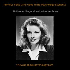 Hollywood Legend Katharine Hepburn studied #psychology at Bryn Mawr College. #KatharineHepburn