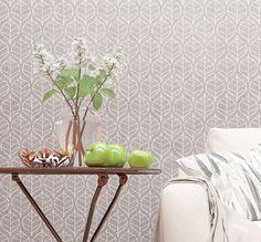 Wall Stencil - Floral Allover Stencil - Decorative Floral Pattern Stencil For Walls