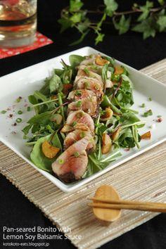 かつおのタタキ レモンバルサミックソース by Kumi Terakado | レシピサイト「Nadia | ナディア」プロの料理を無料で検索