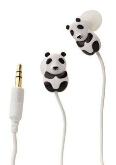 Panda Earbuds- I need these! I will always have a love for pandas! Panda Love, Cute Panda, Hello Panda, Cute Headphones, Gadgets, Panda Party, Retro Vintage, Cute Animals, Baby Animals