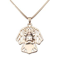 #BangGood - #Eachine1 Sweet Little Puppy Pendant Necklace Plated Lucky Chain Women Gift - AdoreWe.com