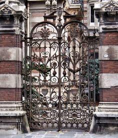 Gates of the Residencia Maguire  Recoleta, Buenos Aires, Argentina