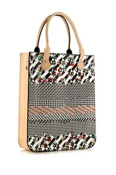 'GEO 135' LEATHER TOTE - BAGS - ACCESSORIES