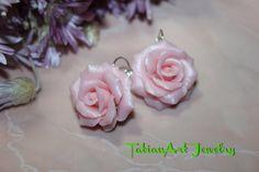 Orecchini '' Rose rose'' di TatianArtJewelry su Etsy