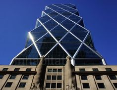 """The creators of Hearst Tower who created the first and only """"green"""" commercial building in NYC.............(view from Foster Street)"""