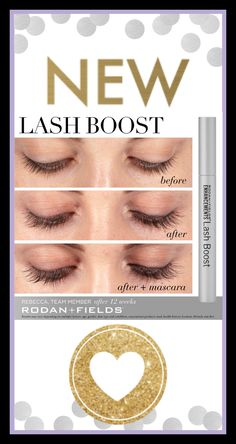 NEW Lash Boost from Rodan+Fields! Do you desire longer looking, darker looking, fuller looking lashes? Get the lashes you've been wanting with Lash Boost. Safe for contact wearers. Available soon. Message me for details.