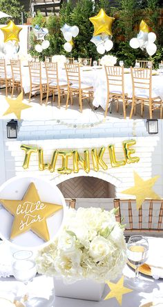 This Twinkle Twinkle baby shower is perfect for both genders, the colors are soft and sweet, and the decoration inspiration is just gorgeous!