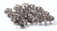 Faceted Rondelle Acrylic Beads in Smoke Gray 13 MM x 18 MM by BeadsFromHaven on Etsy