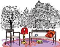 I am Milan is the first title of a new collection of illustrated books called I Am the City, published by Moleskine. Illustrated and written by Carlo Stanga this new series will touch some major cities across the world. Create Image, Milan, Behance, Design Illustrations, Interior Design, Outdoor Decor, Cities, Paris, Home Decor