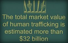 total market value of human trafficking is estimated more than thirty-two billion
