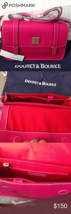 Dooney and Bourke purse Brand new w/tags Dooney purse. It is 10 inches wide and 6 inches high. Magnetic closure. Dooney & Bourke Bags Shoulder Bags