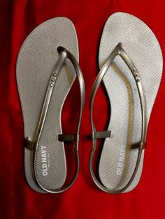 Old Navy Silver Dressy Thongs with Rhinestones in The Straps 10 New | eBay