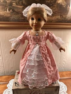 Colonial Ball Gown for American Girl Elizabeth and Felicity #AmericanGirl