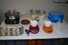 The students are all set to make a body butter!  They used Organic Beeswax, Organic Shea and Organic Avocado Oil.   www.aromaticwisdominstitute.com  #aromatherapy #essentialoils #aromatherapycertification