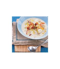 Fish can get predictable pretty easily, so liven things up with this creamy chowder featuring cod with corn, bacon and a mix of cubed red potatoes, onions, carrots and celery sautéed in bacon fat. Get the recipe  - WomansDay.com