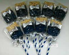 This item is unavailable Rice Krispie Treats, Rice Krispies, Chocolate Rice Crispy, Marshmallow Cake, Boss Baby, Candy Recipes, Chocolate Covered, Baby Boy Shower, Cake Pops