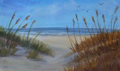 "'Through the Dunes' by Jane McElvany | $250 | 16""w x 12""h 