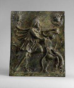 Bronze plaque of Mithras slaying the bull  Period: Mid-Imperial, Antonine or Severan Date: mid-2nd–early 3rd century A.D. Culture: Roman