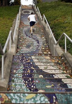 16th Avenue Tiled Steps:The 163 steps on the 16th Avenue staircase, seen from the bottom up, are a work of art. The view from the top is a masterpiece of nature.