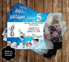 disneys+frozen+birthday+party | Disney's Frozen Birthday Party Invitation | NovelConceptDesigns ...