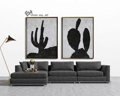 Set of 2 cactus Painting Large Canvas Wall Art Set of 2 image 7 Cactus Painting, Cactus Art, Abstract Landscape Painting, Landscape Paintings, Abstract Animal Art, Zebra Art, Large Canvas Wall Art, Minimalist Painting, Black And White Painting