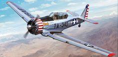 North American T-6 Texan (Kitty Hawk box art)