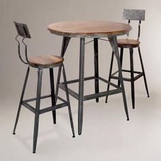 Attractive Bailey Brown Finished Square Counter Height 5 Piece Dining Set By Jofran.  $822.04. 1 Counter Height Table And 4 Stools. Ladder Back Styled Chairs.