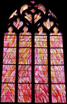 Vitrail de La Chapelle de la Madeleine à Penmarch , Finistère made by Eric Bonte for Jean Bazaine http://france-vitrail.com/