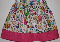 Shopkins Skirt  Size 2 to 8 by bubblenbee on Etsy
