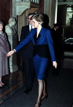 1990-01-30 Diana attends a Luncheon in London