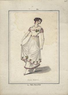 La Belle Assemblee, January 1811, Ball Dress