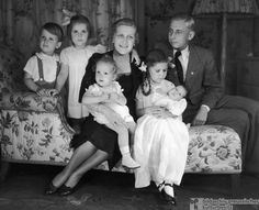 Magda Goebbels at Home with her Children (1938). Sad to think that she and her husband poisoned their whole family in 1945.