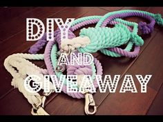 DIY | OMBRÉ LEAD ROPES & GIVEAWAY - YouTube