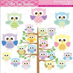 Owls Digital Clipart set includes 25 cute graphics. Graphics are PERFECT for the Scrapbooking, Cards Design, Stickers, Paper Crafts, Web Design, T-shirt Design...More and more! Whatever your want! [Details] ‧This is a digital download products ‧Saved in PNG format (individual PNG