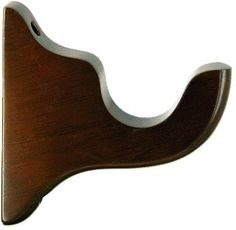 Length: 7 Width: Projection: Finish: Shown in Walnut Returns: LJB Wood products can be returned for a restocking fee Curtain Pole Brackets, Wood Curtain Rods, Curtain Poles, Wall Brackets, Drapery Hardware, Basement Ideas, Burlap, Woodworking, Windows