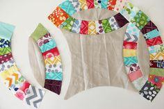 V and Co., double wedding ring quilt, simply color, moda fabrics