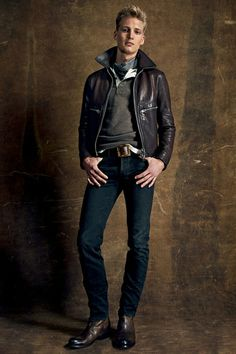 For Tom Ford's new Spring/Summer 2015 collection, he looked to further distance himself from his suits and experiment more with #luxury #sportswear looks in addition to an expanded denim line. Highlight pieces include  #Western-inspired fringed suede jackets, denim cowboy shirts and leather desert boots. Given the source material, the palette was accordingly simple but bold with a range of blue shades, #earthtones and charcoal forming the base of most items. #TomFord